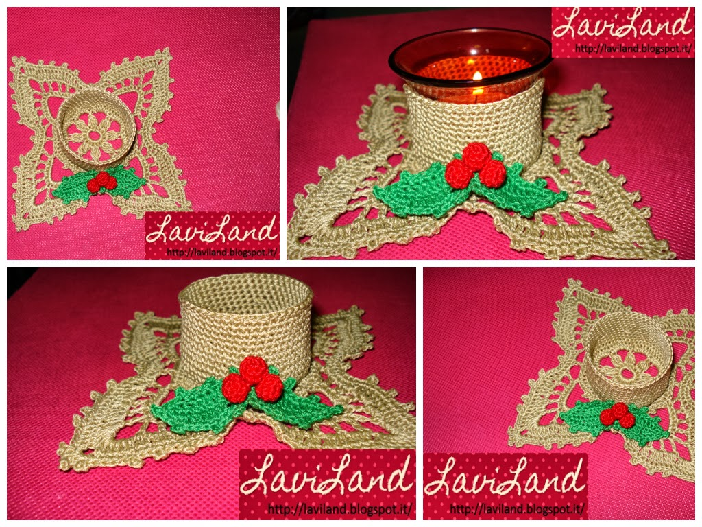 Laviland porta candela crochet for Porta candela