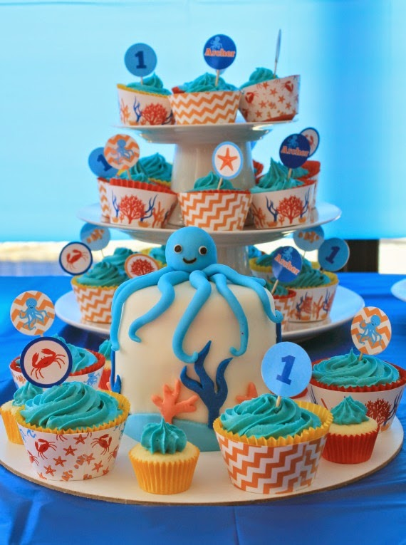 White Chocolate Mud Cupcake Recipe: Under the Sea Party @ Love That Party www.lovethatparty.com.au
