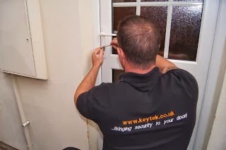 NCFE accredited locksmith and Keytek Technical Manager Craig working on a uPVC door