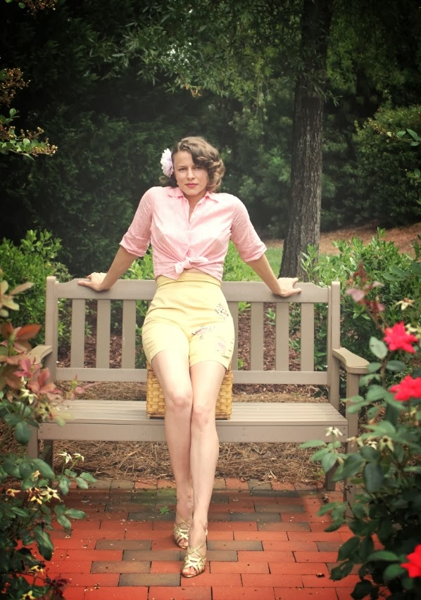 1950s Pinup Style Play Outfit on ChatterBlossom #1950s #fashion #pinup