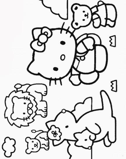 Disegni da colorare e stampare di hello kitty for Disegni da colorare hello kitty