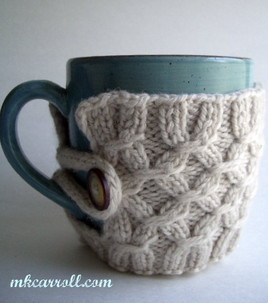 Knitting Pattern For Mug Holder : How to knit a Smocked Mug - iKNITS