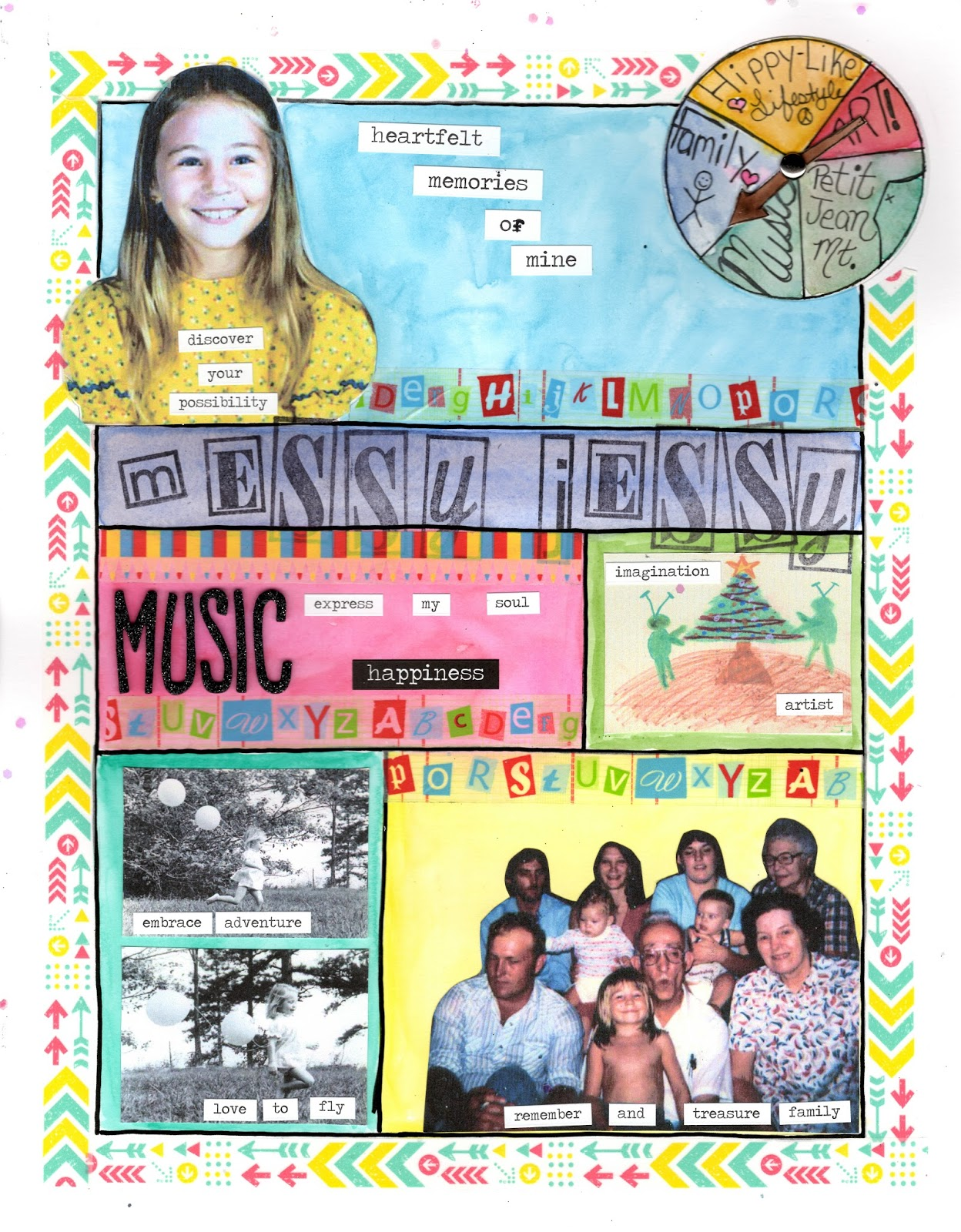 Messyjessycreatesart lifebook 2015 week 46 with violette for Whats news laporte