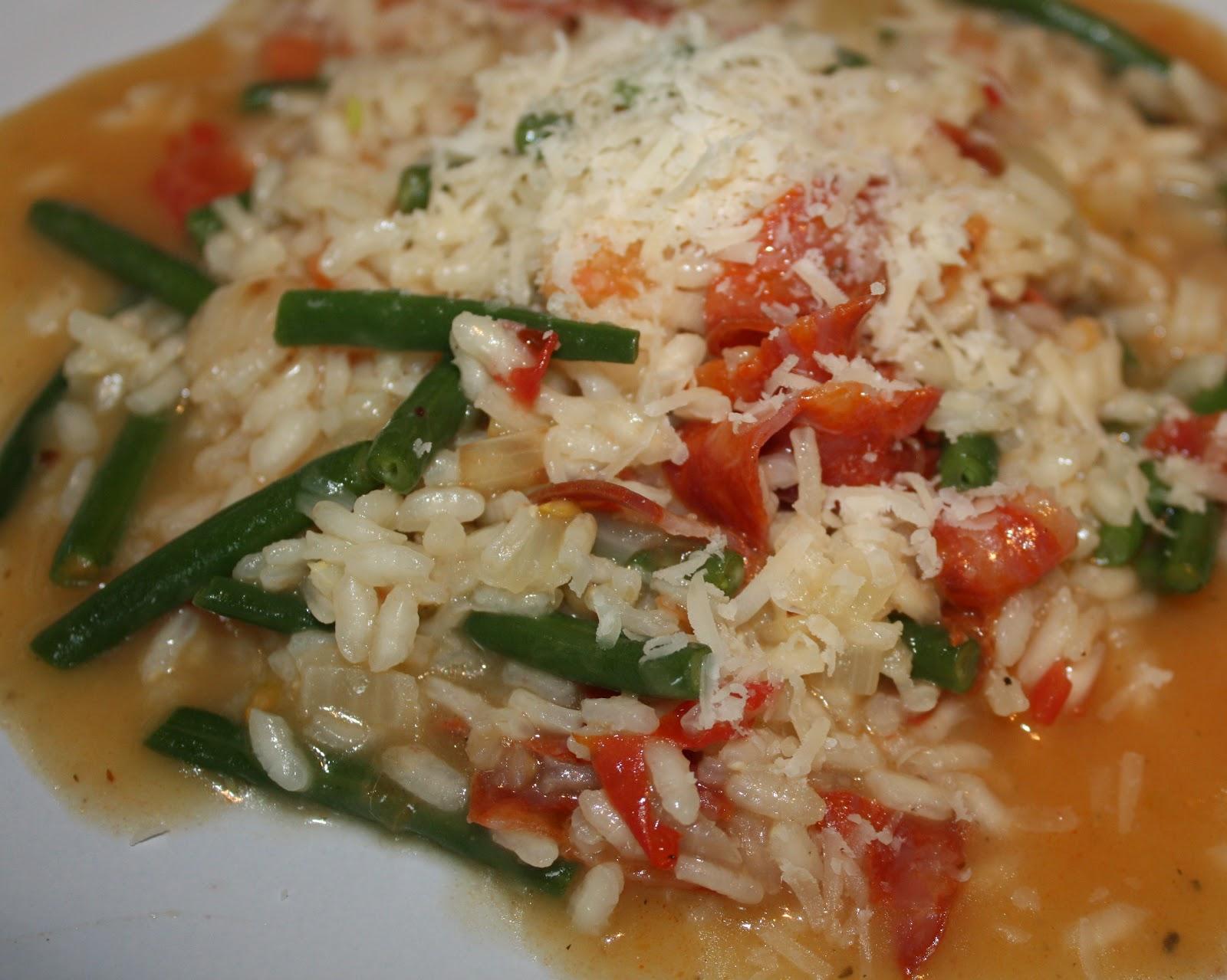 Green Bean & Chorizo Risotto   Mezzamay