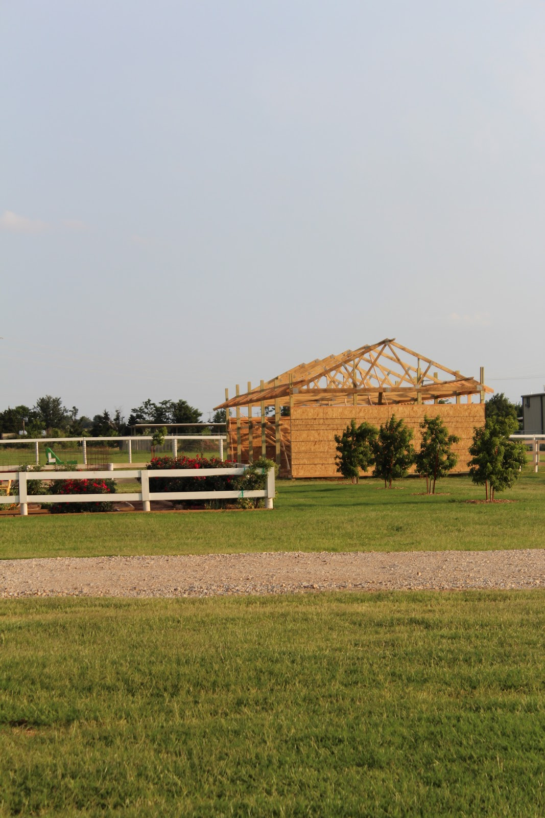Farm Equipment Shelters : Horse run in sheep shelter