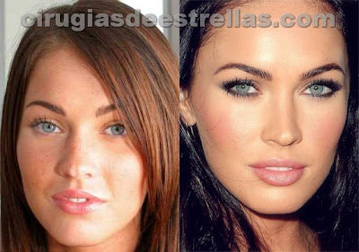 antes y despues de Megan Fox