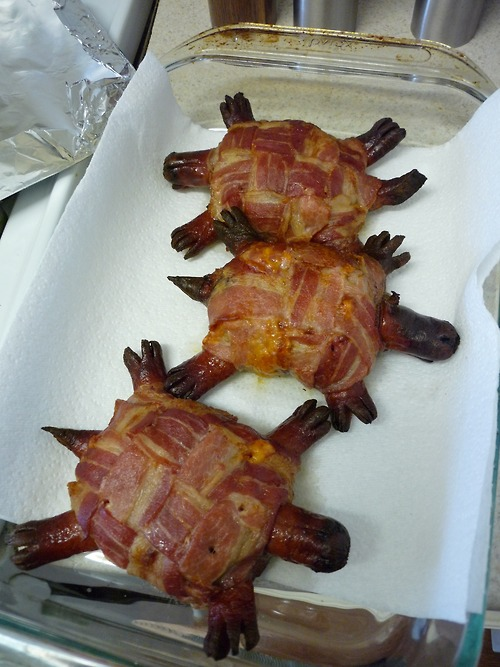 The Bacon Turtle Sausage Burger
