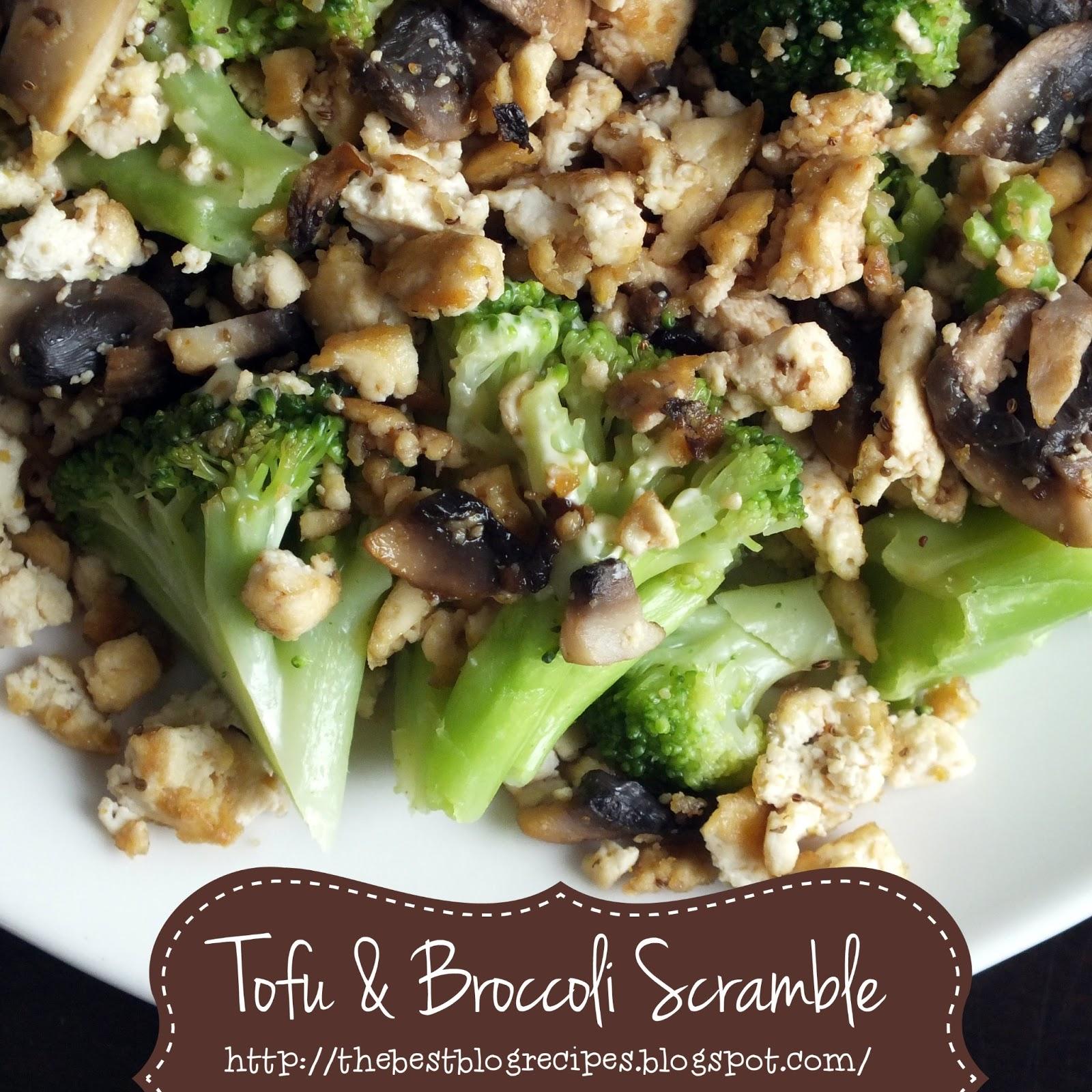 Here's a super yummy Tofu & Broccoli scramble that