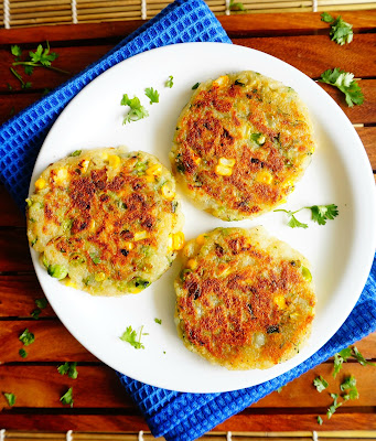 Peas corn tikki, cutlets,patties