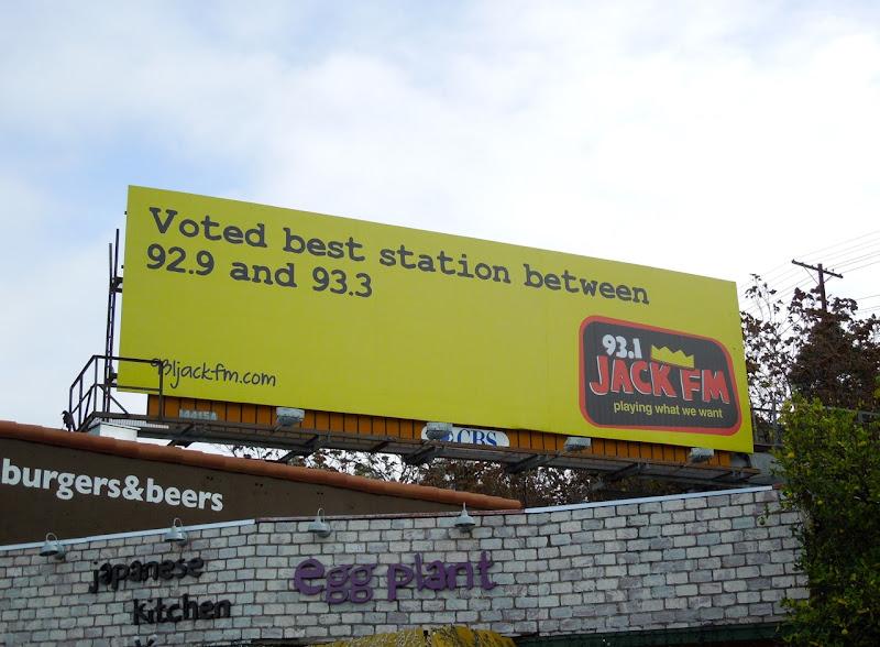 Jack FM voted best station billboard