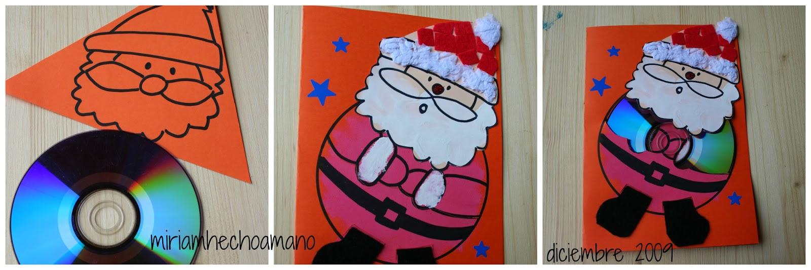 Miriam hecho a mano felicitaciones de navidad hechas con for Tarjetas de navidad hechas por ninos