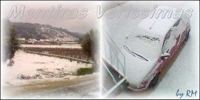 Paisagens de Neve na cidade de Caxarias em Portugal