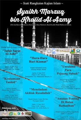 Kajian Islam Jogja Bersama Syaikh Marzuq bin Khalid al Azmy