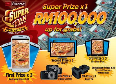 Pizza Hut 'Super Pan Pizza' SMS Contest