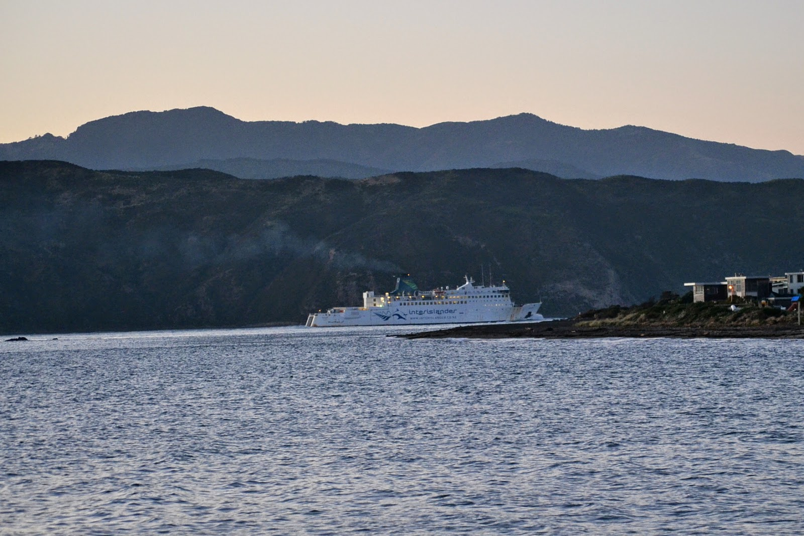 Interislander Ferry leaving Seatoun