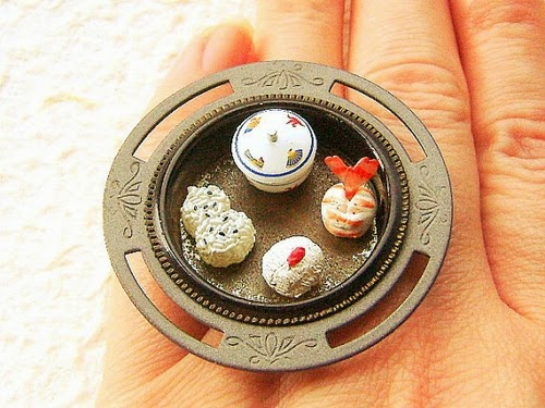 03-SouZo-Creations-Kawaii-Cute-Miniature-Food-Rings-Earrings-Pendants-Traditional-Japanese-www-designstack-co