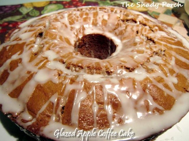 Glazed Apple Coffee Cake box mix spice piefilling apple