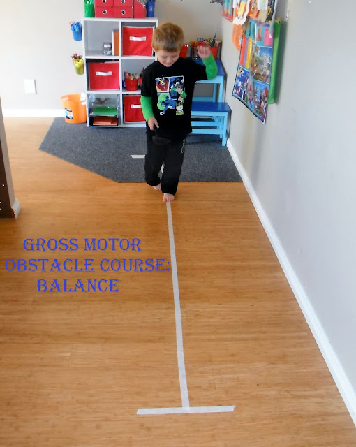 Adventures At Home With Mum Easy Gross Motor Obstacle Course