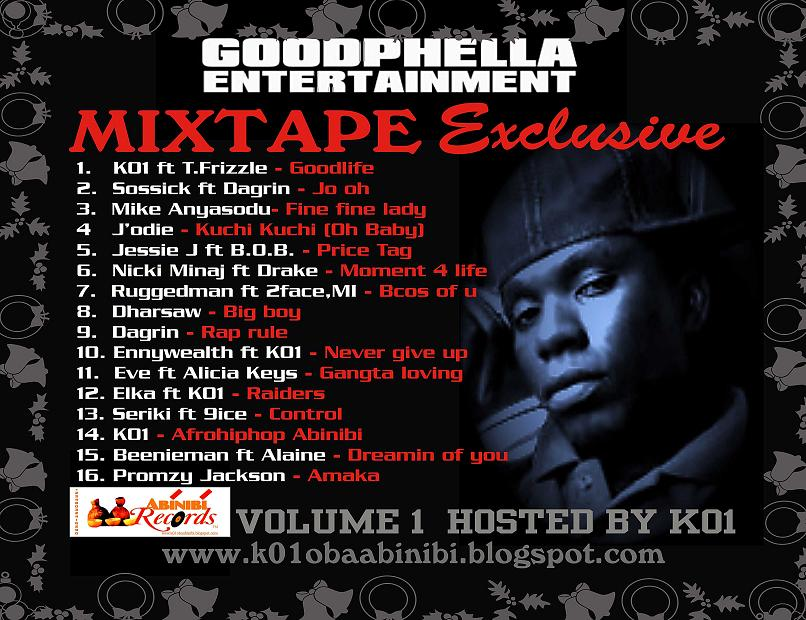 GOOPHELLA ENTERTAINMENT MIXTAPE VOL.1 Hosted by K01