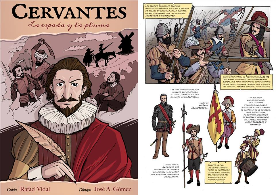 Cómic de Cervantes