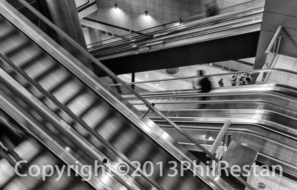 Image of Escalators in Osaka airport, Japan