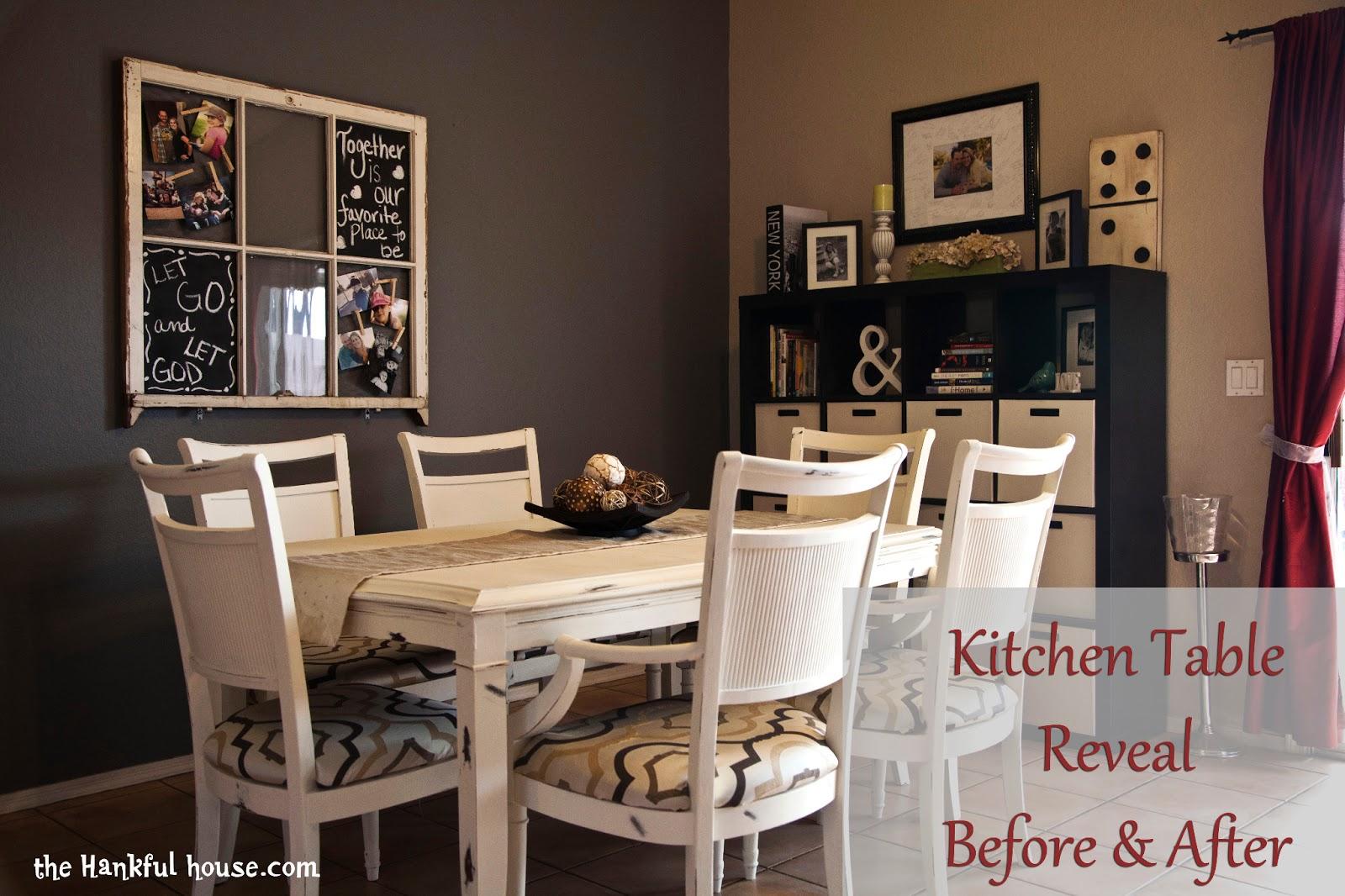 Kitchen Table Paint Kitchen Table Redo The Hankful House