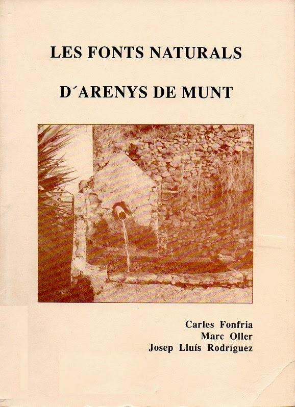 Les fonts naturals d'Arenys de Munt