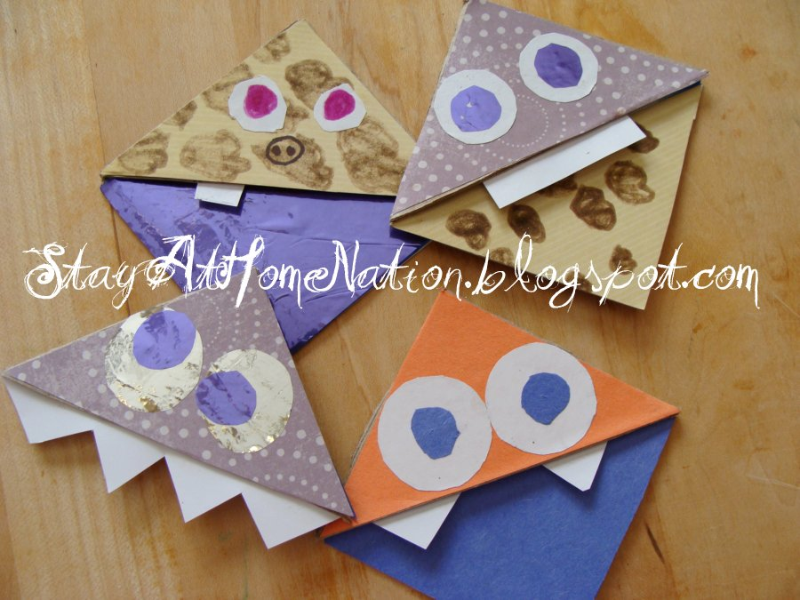 Stay at home nation crafting kiddies summer 3 cool for Cool ways to make bookmarks