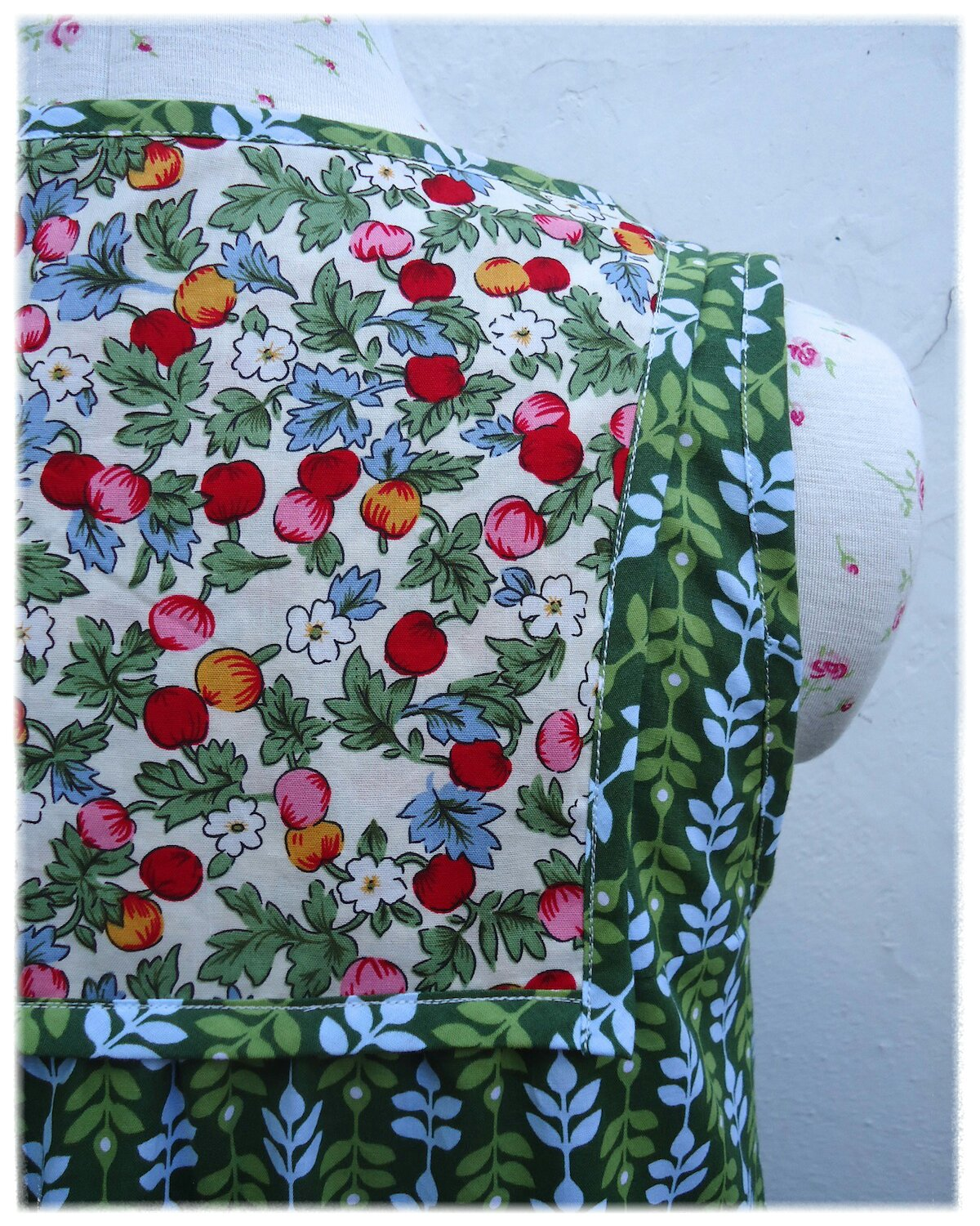 Back yoke detail - laborious but lovely