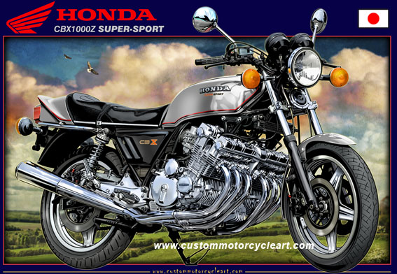 Custommotorcycleart HONDA CBX1000