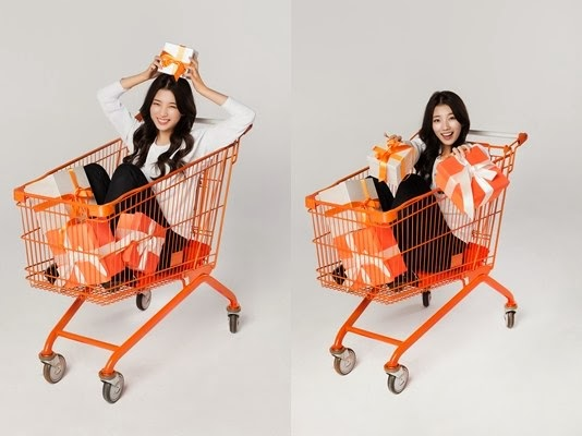 miss A's Suzy poses in a cart for new CF