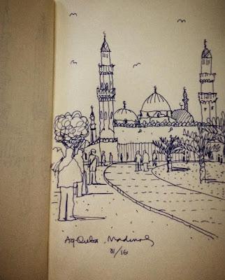 Sketsa Makkah dan Madinah Karya Ridwan Kamil 1