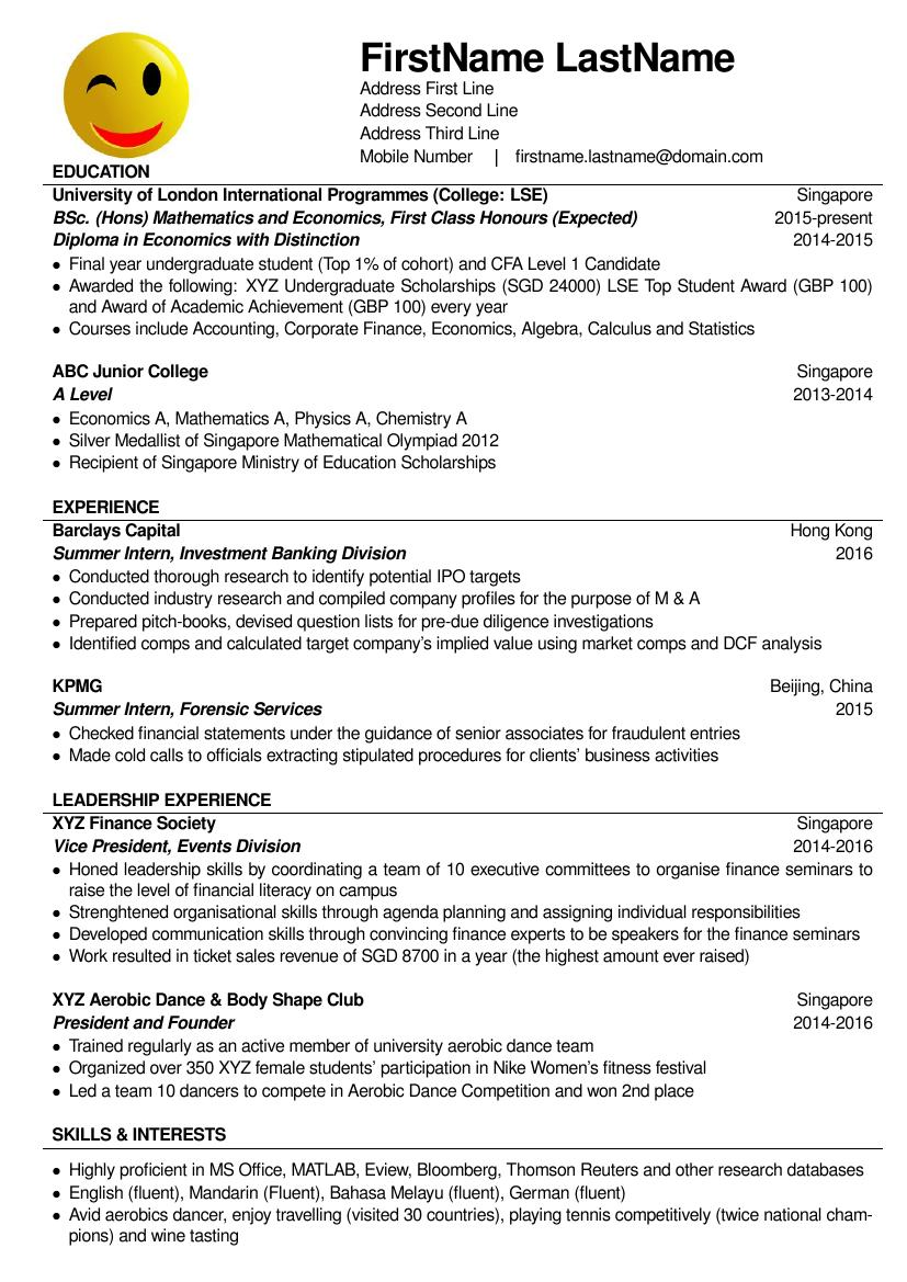 Example Format Resume Resume Examples How Write Career Objective Resume  Sample Accountant The Brilliant Resume For