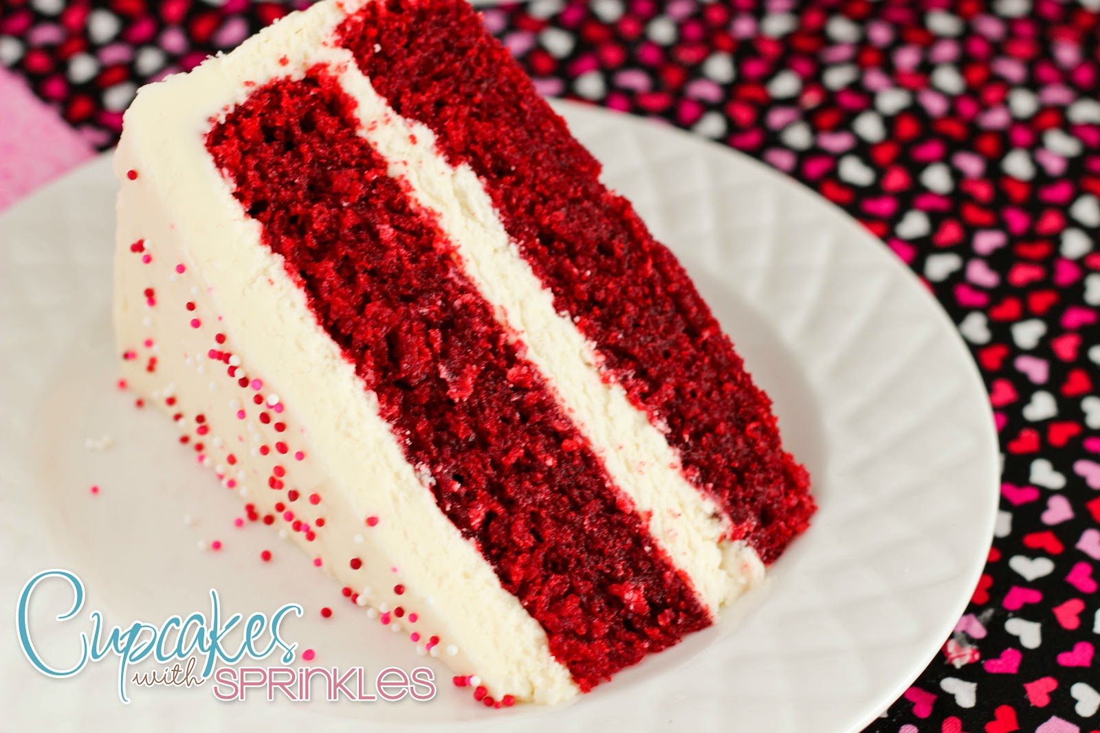 Cupcake with Sprinkles: Red Velvet Cake
