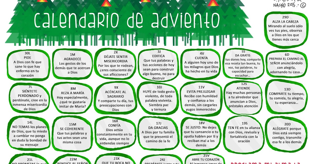 Trampas y cart n calendario de adviento 2015 for Calendario adviento 2017