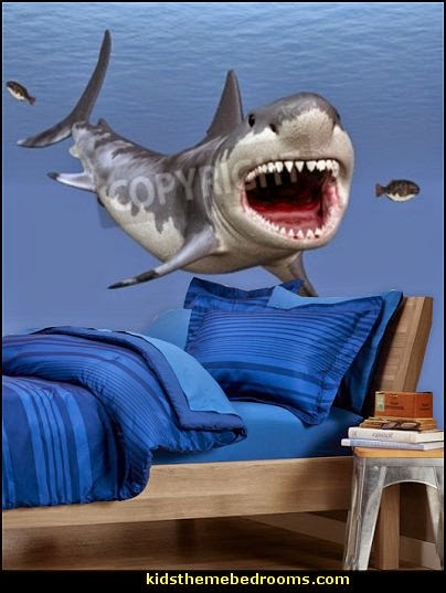 Http Themerooms Blogspot Co Uk 2014 07 Shark Bedrooms Shark Murals Shark Decor Html