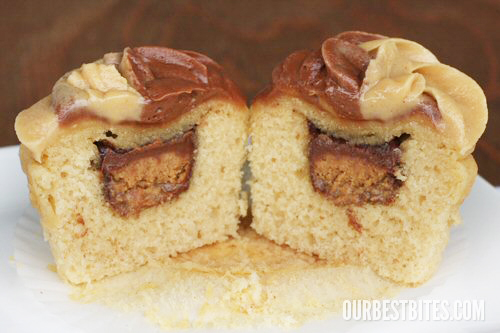 peanut butter cup cupcakes with cake mix