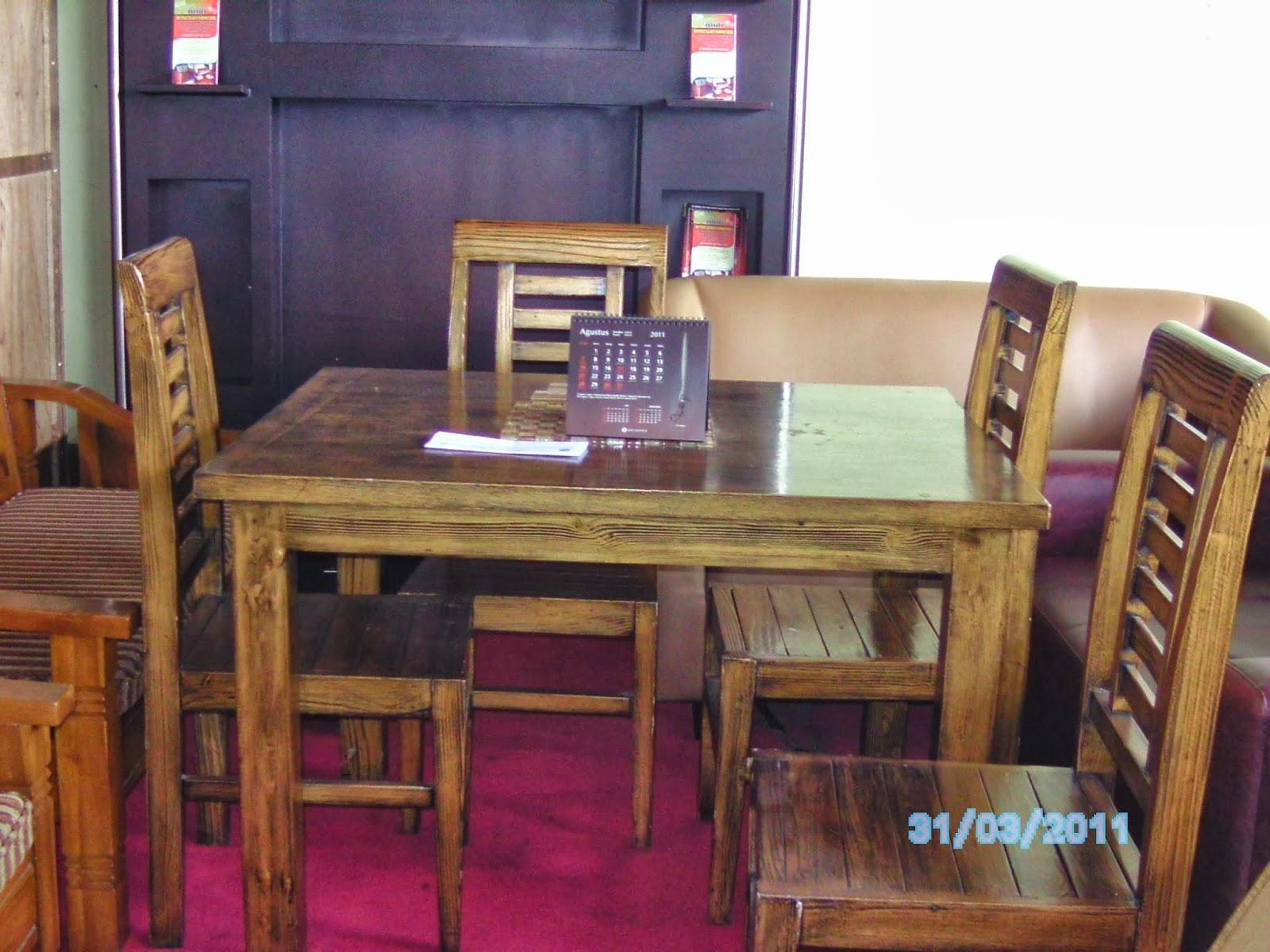 Interior Design And Furniture Set Meja Makan Minimalis 1 Dengan 4 Kursi