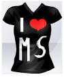 T-Shirt I ♥ MS