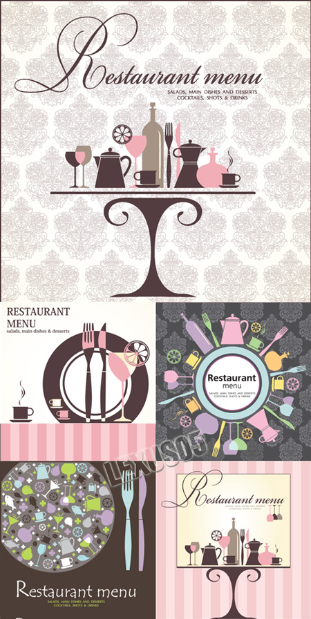 Quality graphic resources restaurant menu cover designs