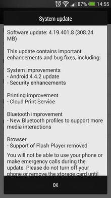 Update Android 4.4.2 untuk HTC One mulai digulirkan