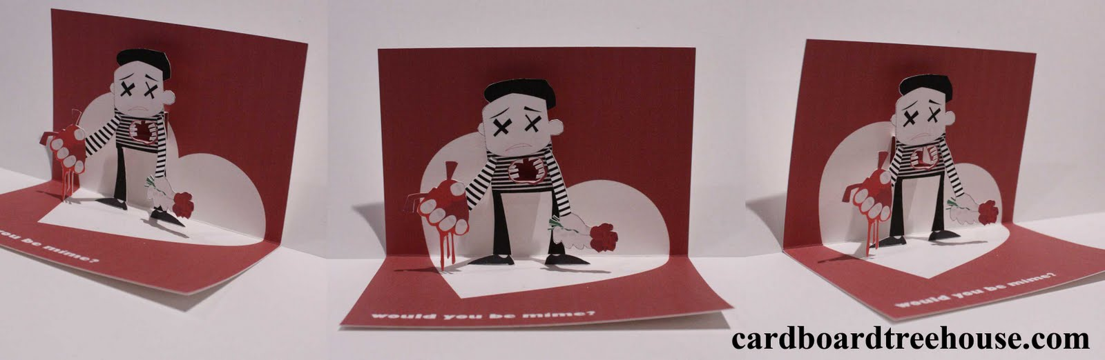 Cardboardtreehouse Be Mime Popup Card And Free Template - Pop up cards templates free
