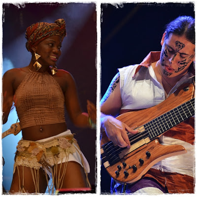 Kanda Bongo dancer and Mamadou Diabate's bassist