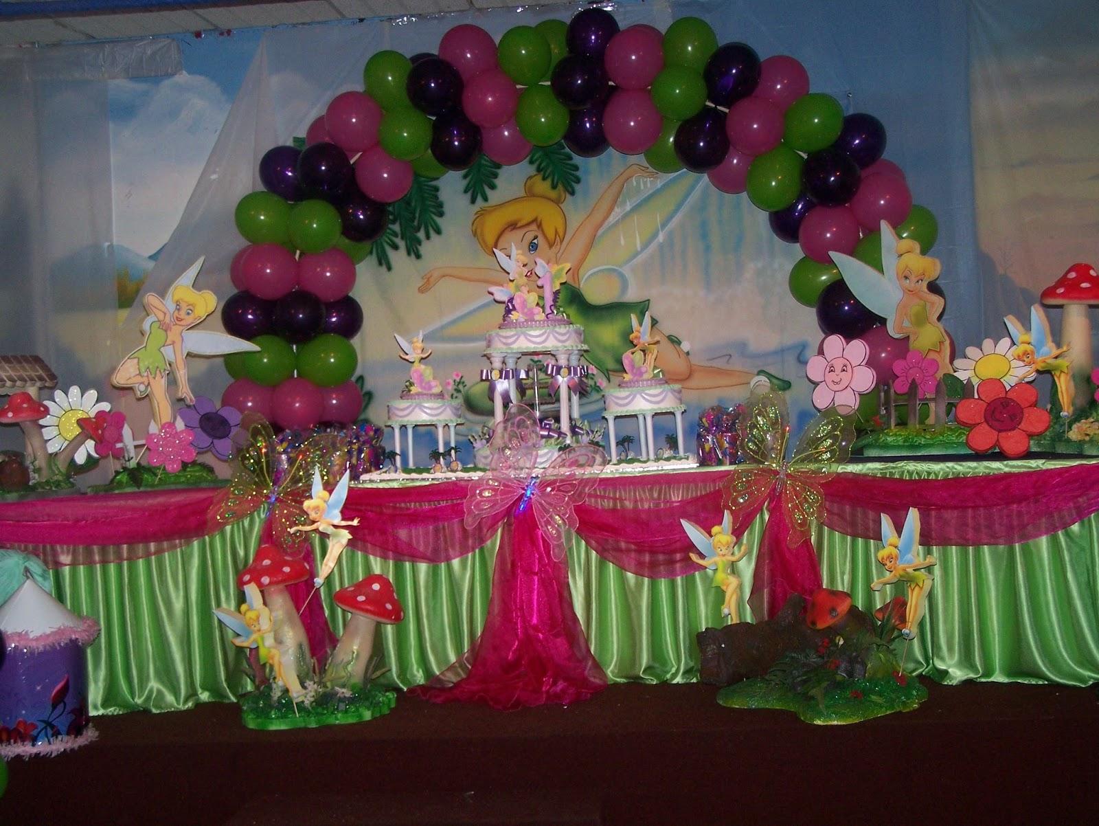 Decoracion tinkerbell para fiestas for Decoracion para pared infantil