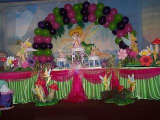 Decoracion Tinkerbell para Fiestas Infantiles, parte 3