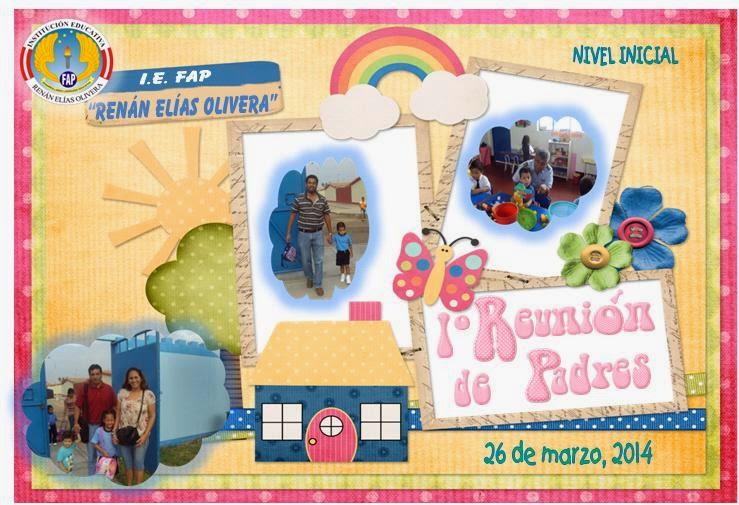 INVITACIÓN 1º REUNIÓN DE PADRES DE FAMILIA