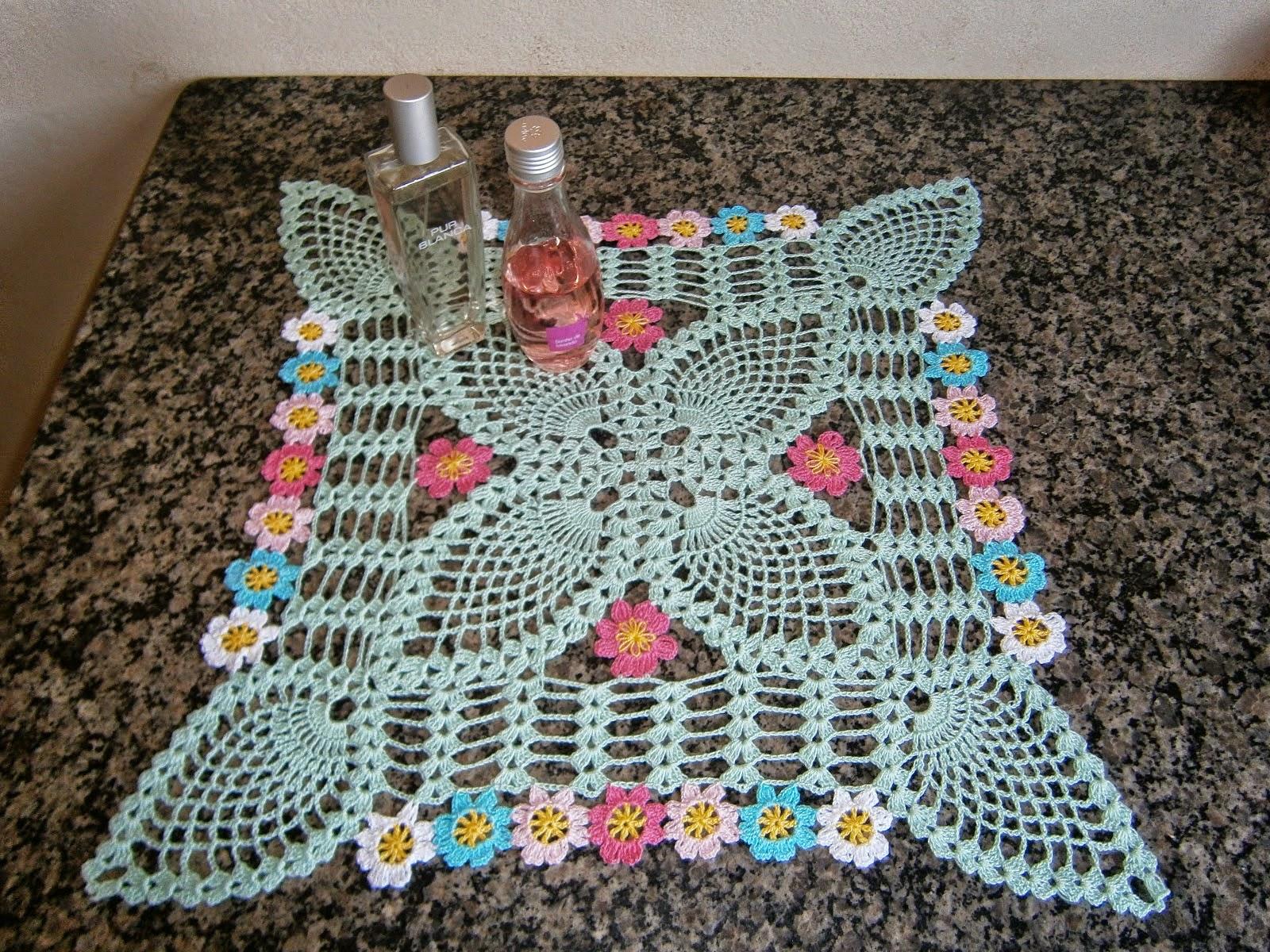 Carpeta cuadrada con punto piña al crochet | Crochet y Dos agujas ...