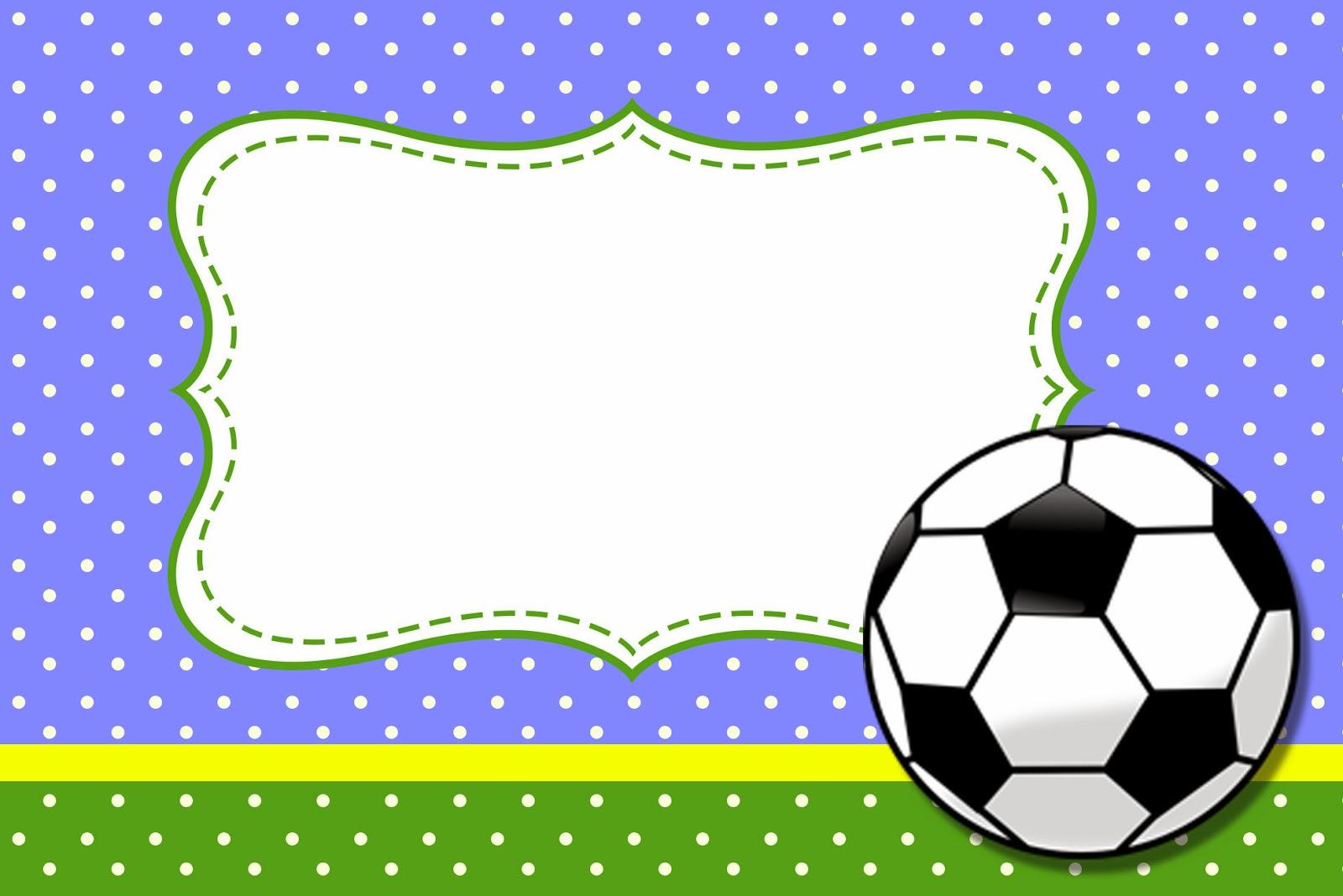 Fútbol: Tarjetas o Invitaciones para Imprimir Gratis. | Ideas y ...