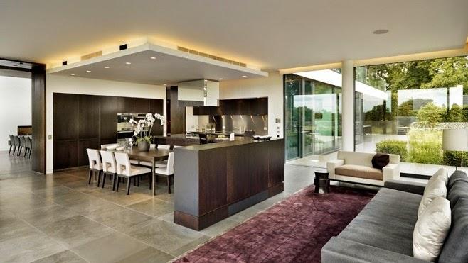 Casa de campo moderna a orillas del r o t mesis arquitexs for Casas modernas vista por dentro