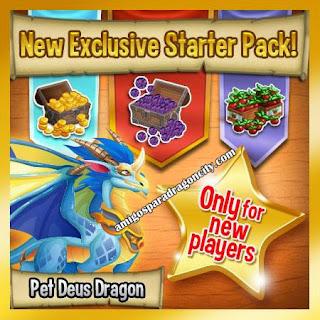 imagen del nuevo starter pack de dragon city